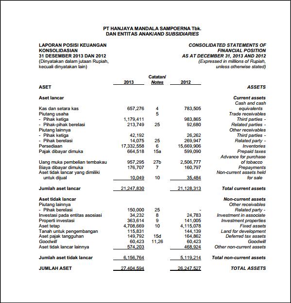 Analisis Laporan Keuangan Suci Rakhmawati